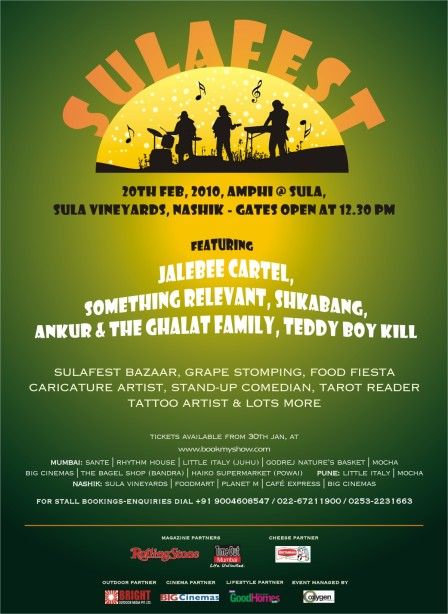 A poster of the SulaFest 2010